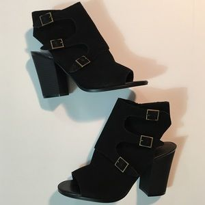 MELROSE AND MARKET Tiah Heels Black Suede Boots 9
